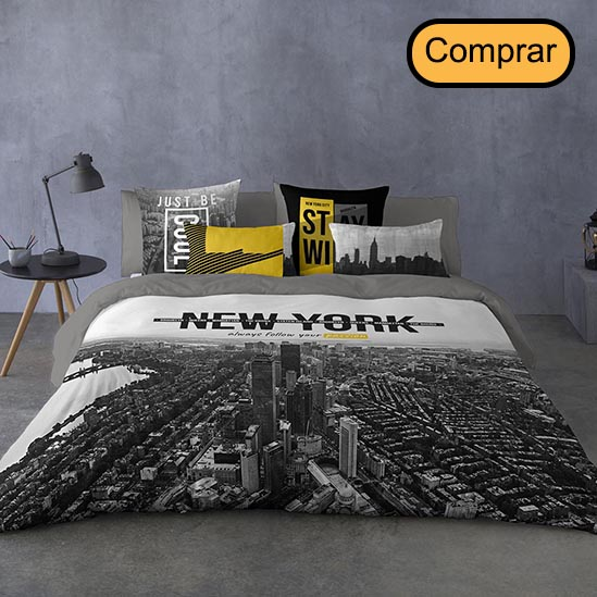 funda nórdica juvenil de estilo new york